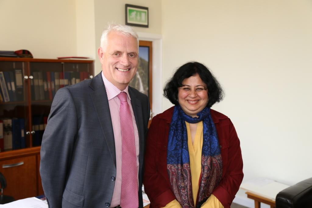 Dr Kiran met the Principal and staff of Ballymena Academy