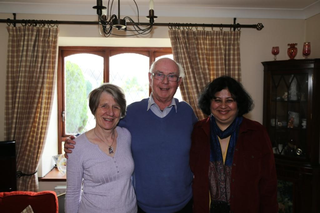 George and Mita with Dr Kiran