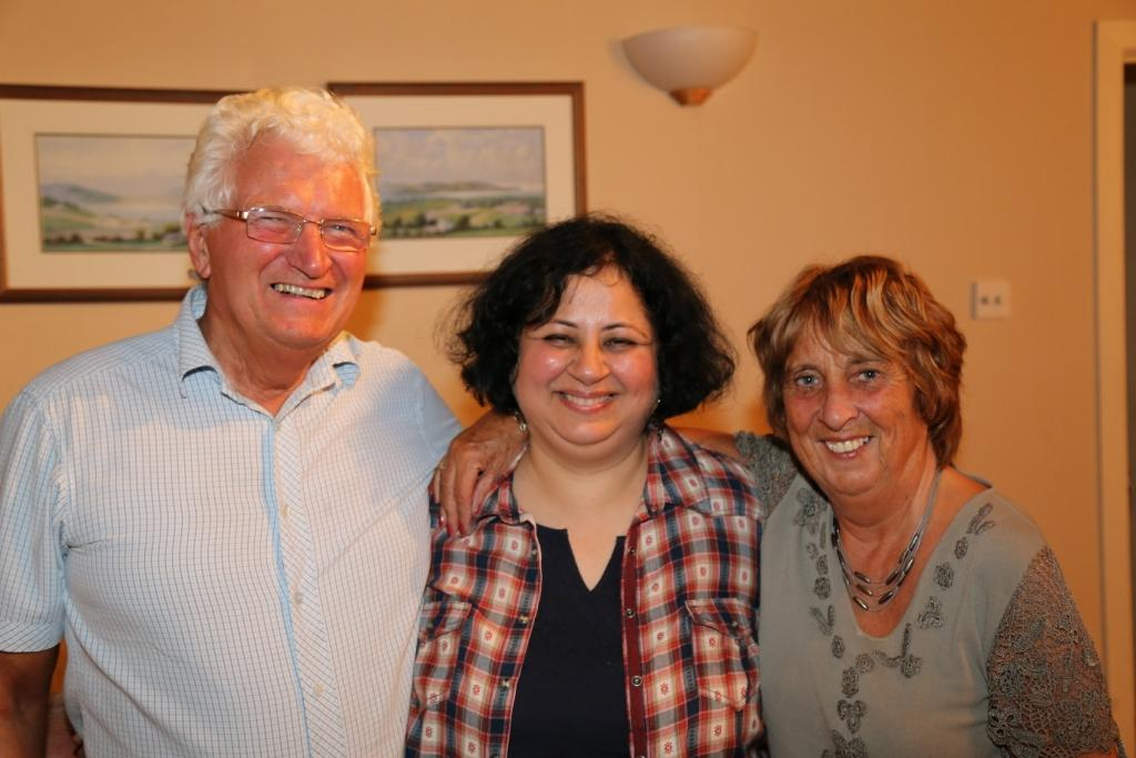 Dr Kiran with Hazel and Noel Henderson