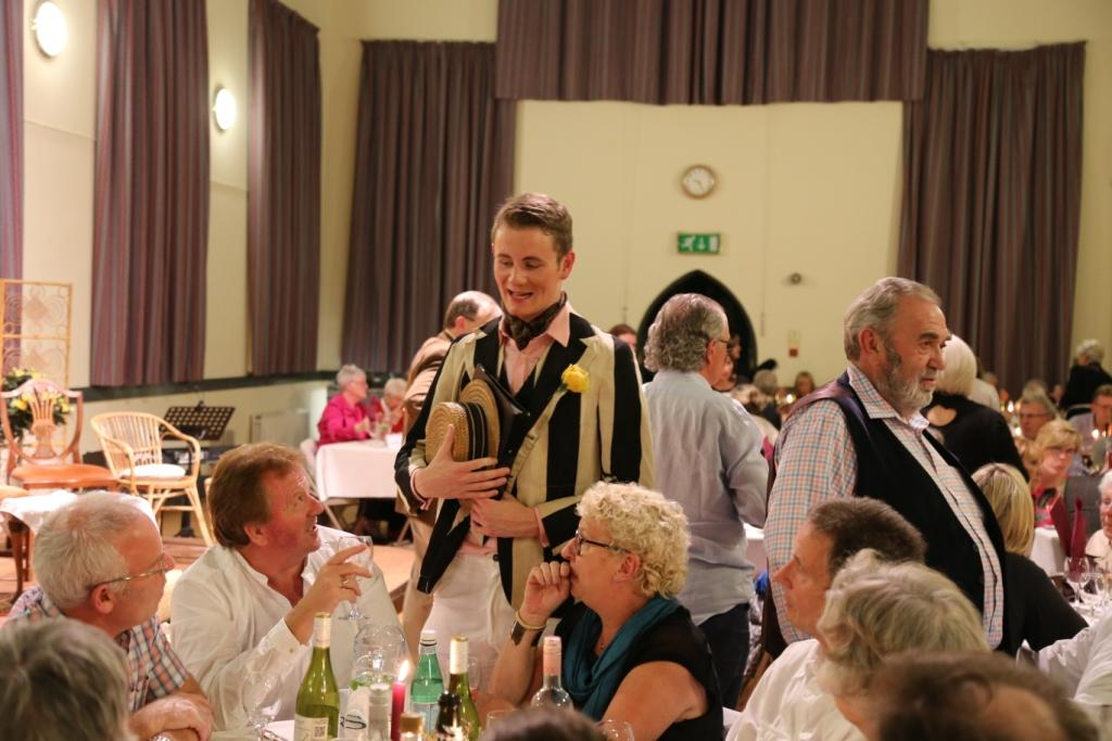 Guests enjoying the murder mystery evening organised by Holywood Parish Players