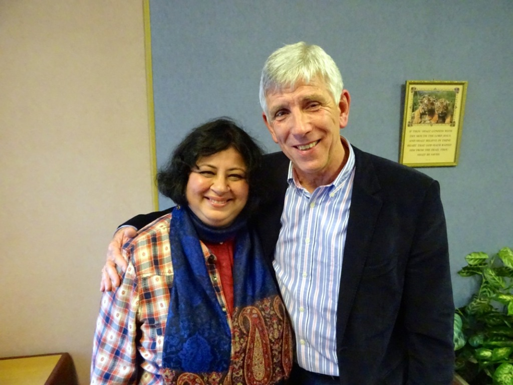 Kiran with Ronnie McKee, CEO of TBF Thompson Trust in Garvagh