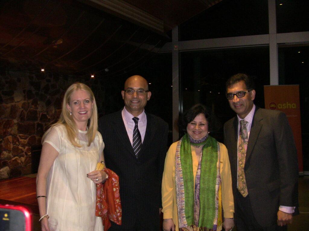 (L-R) Ms Caroline Chernov, Mr Dinesh D'sa from TFS Limited, Dr Kiran Martin and Mr Harish Rao at the event