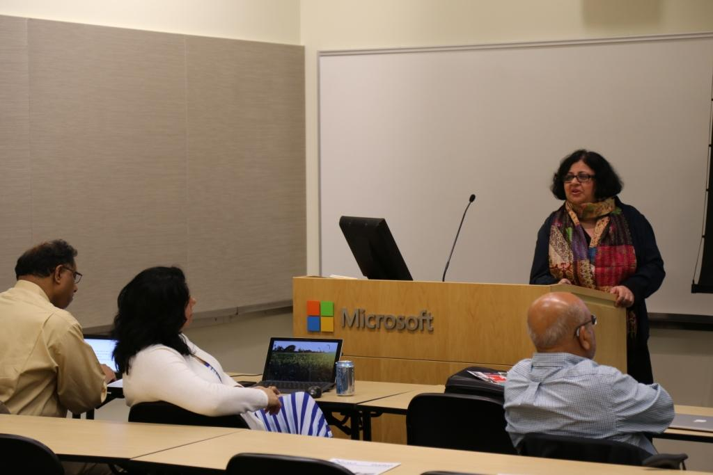 Dr Kiran addressing Microsoft employees in Seattle
