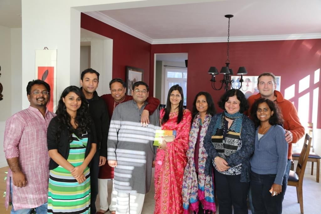 Dr Kiran at an Asha event hosted by Prabita and Paul Pottorff at their home in Seattle