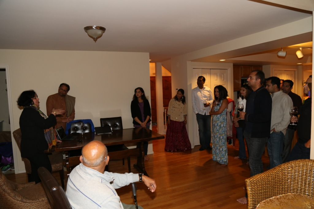 Dr Kiran hosted at the home of Tulika Dugar, Seattle