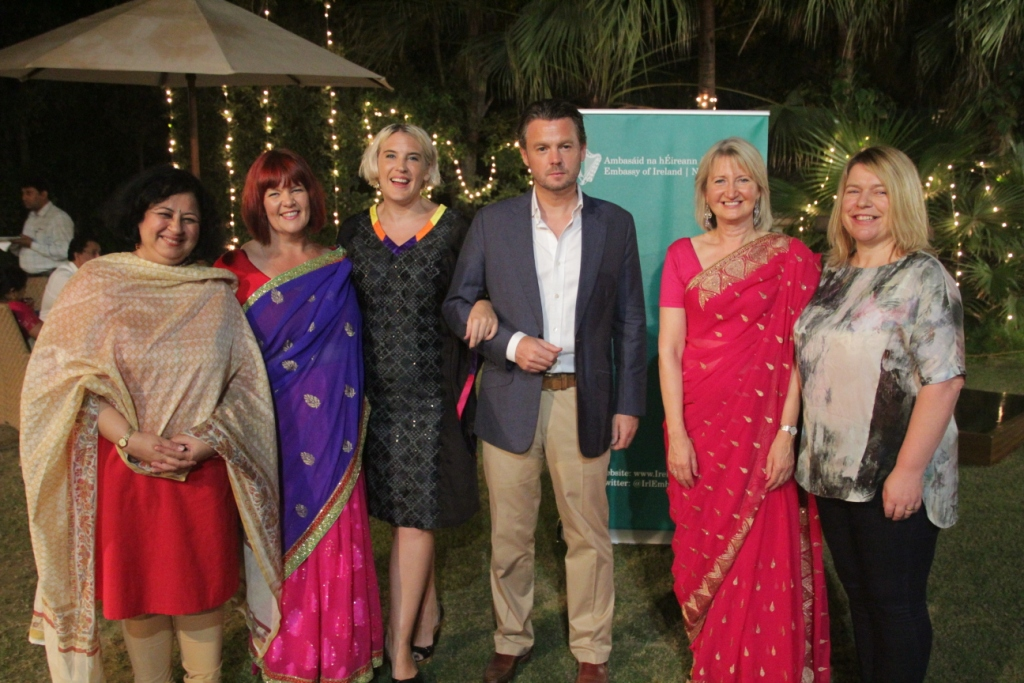 (L-R) Dr Kiran Martin, Ms Moyra Richardson, Ms Sonya McGuinness, HE Feilim Mclaughlin, Ms Pearl Donnelly and Ms Deborah O'Hare