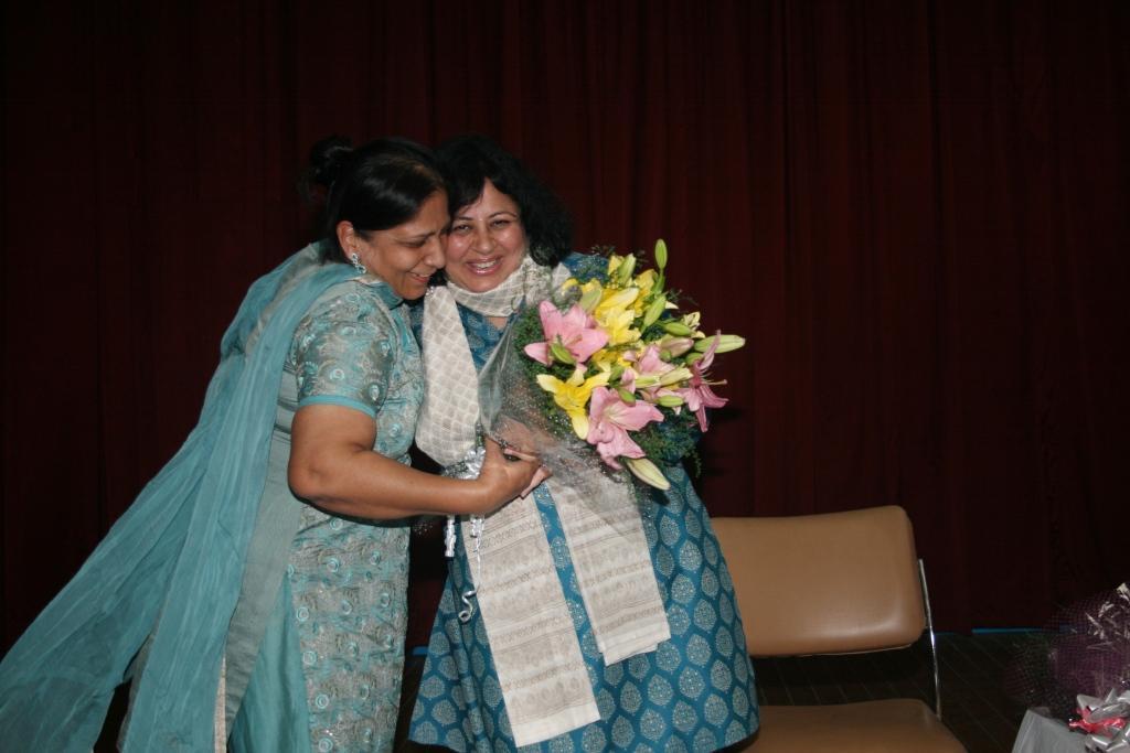 Programme Manager Kiran Gera welcomes Dr Kiran