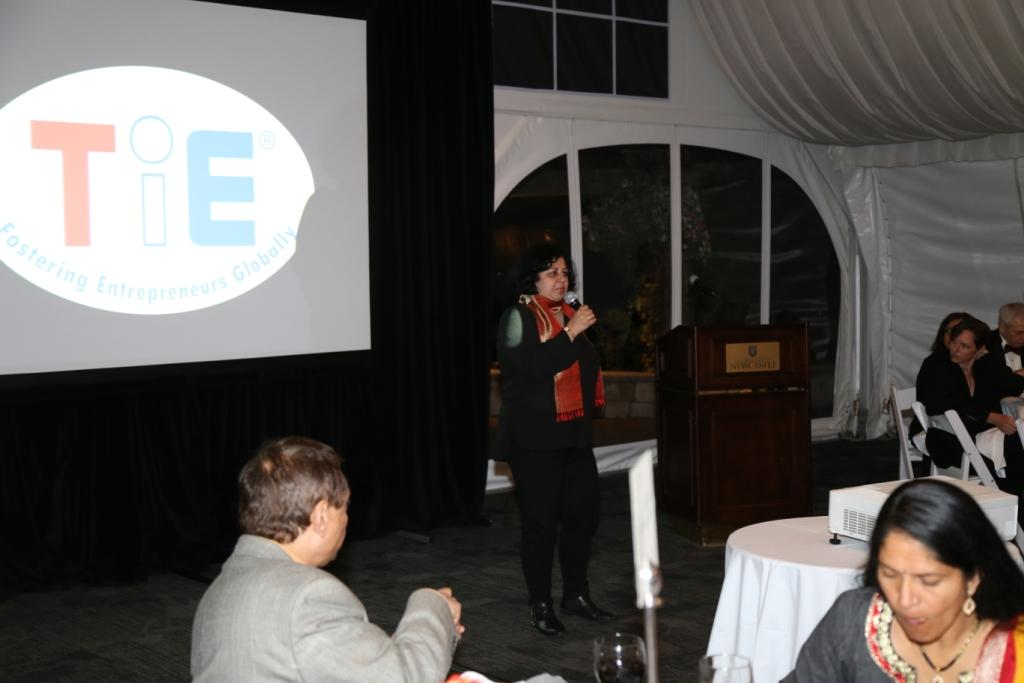 While in Seattle, Dr Kiran was also invited to address the annual gathering of TiE Seattle, a not-for-profit global network of entrepreneurs and professionals. [In Picture Dr Kiran, addressin