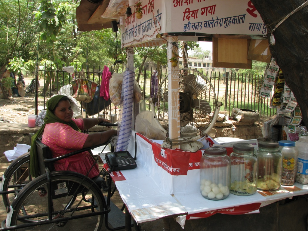 Subina, a resident from Mayapuri slum colony who got a business loan  to start a small tea stall in her area