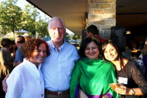 Dr Kiran and her daughter, Prerna with Congressman Mike and Jan Thompson.