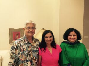 Dr Kiran with Dr Praveen and Dr Nalini at Sacramento