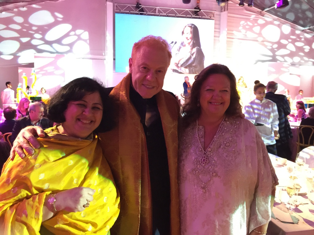 Dr Kiran with Mr Anthony Pratt and leading Australian Businesswoman Gina Rinehart