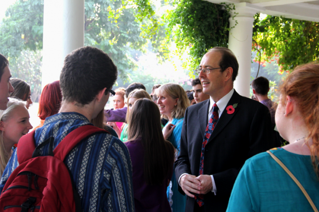 His Excellency Sir James Bevan hosts high tea for Asha volunteers