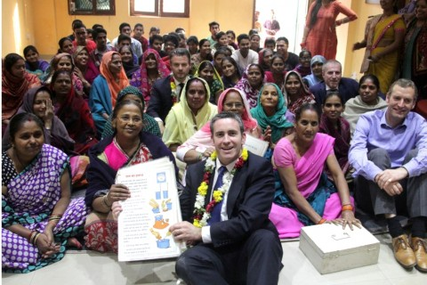 Irish Minister Damien English visits Asha