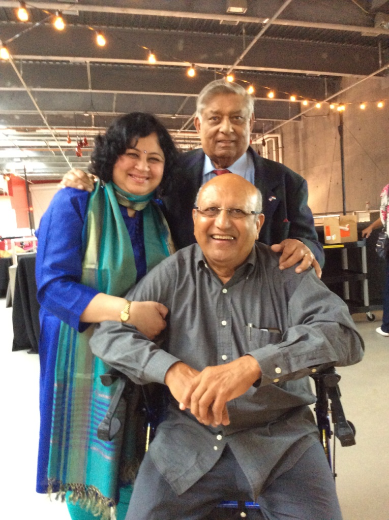 Dr Kiran with amazing supporters, Kailash Chaudhary and Rohit Patel