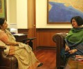 Dr Kiran meets with India's External Affairs Minister, Smt. Sushma Swaraj