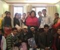 Christmas Celebrations with University students