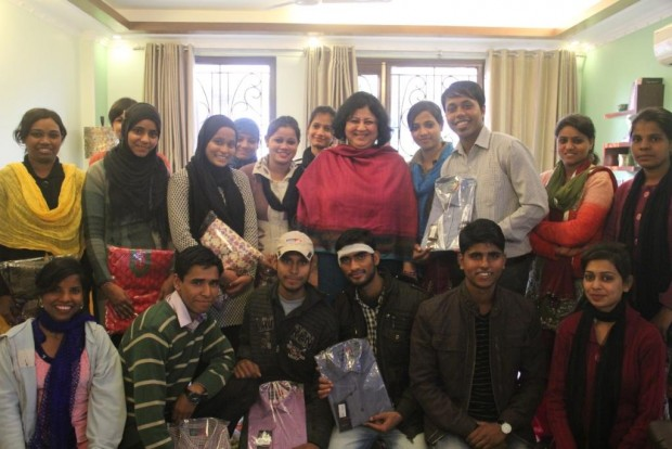 Christmas Celebrations with University students