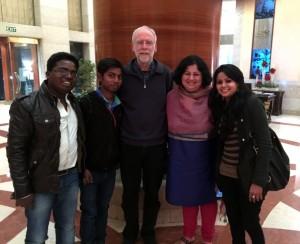 Dr Kiran and Asha students  with Prof. Francis