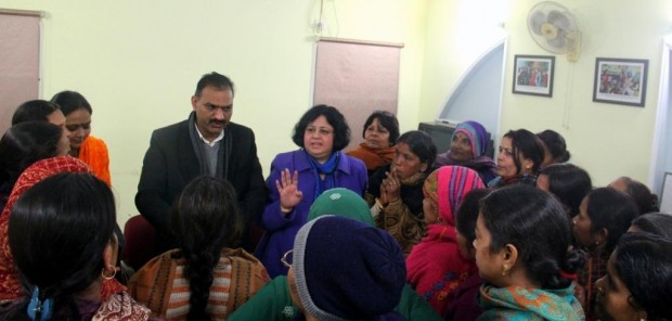 Women from slum communities meet with their MLA