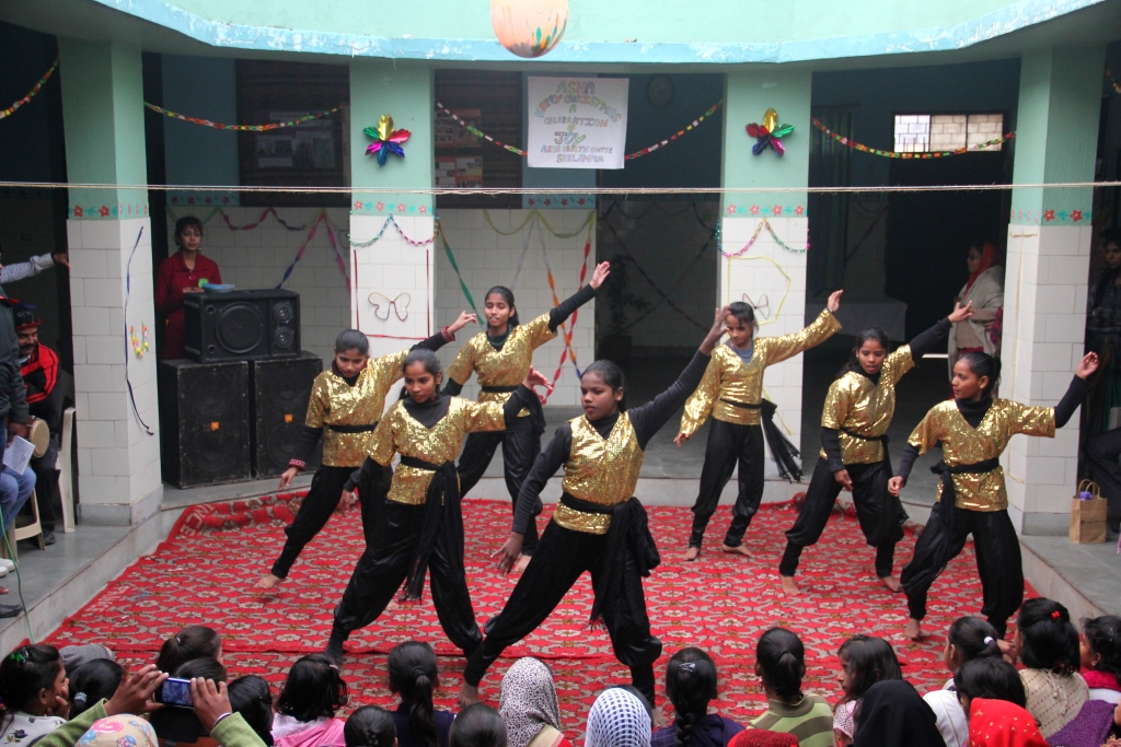 Cultural programme by students during Christmas celebrations.
