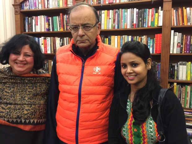 A meeting with India's Finance Minister, Mr Arun Jaitley