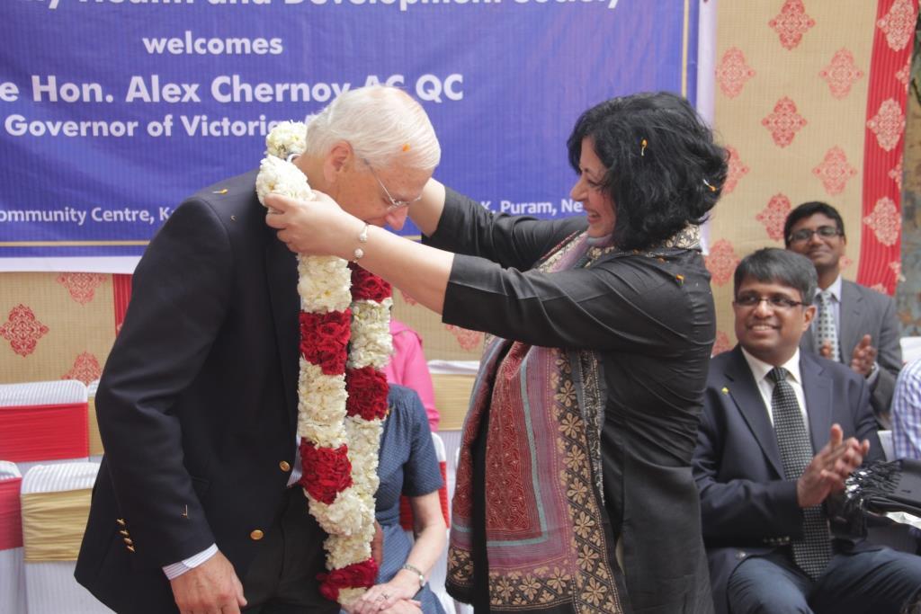 Dr Kiran welcomes Mr Chernov