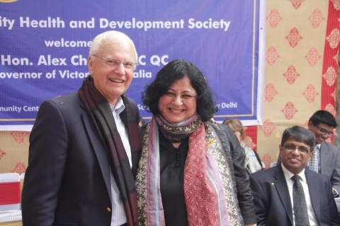 Hon Alex Chernov AC QC, Governor of Victoria, Australia visits Asha