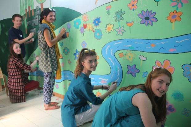 Kalkaji slum colony welcomes Methodist College