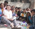 Team from Monash University volunteers at Jeewan Nagar slum colony