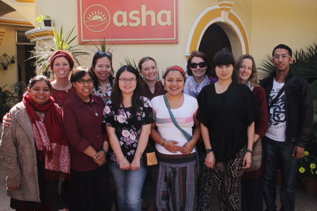 The Team with Asha Supervisor, Ms Sweeta Jacob on their first day at Asha