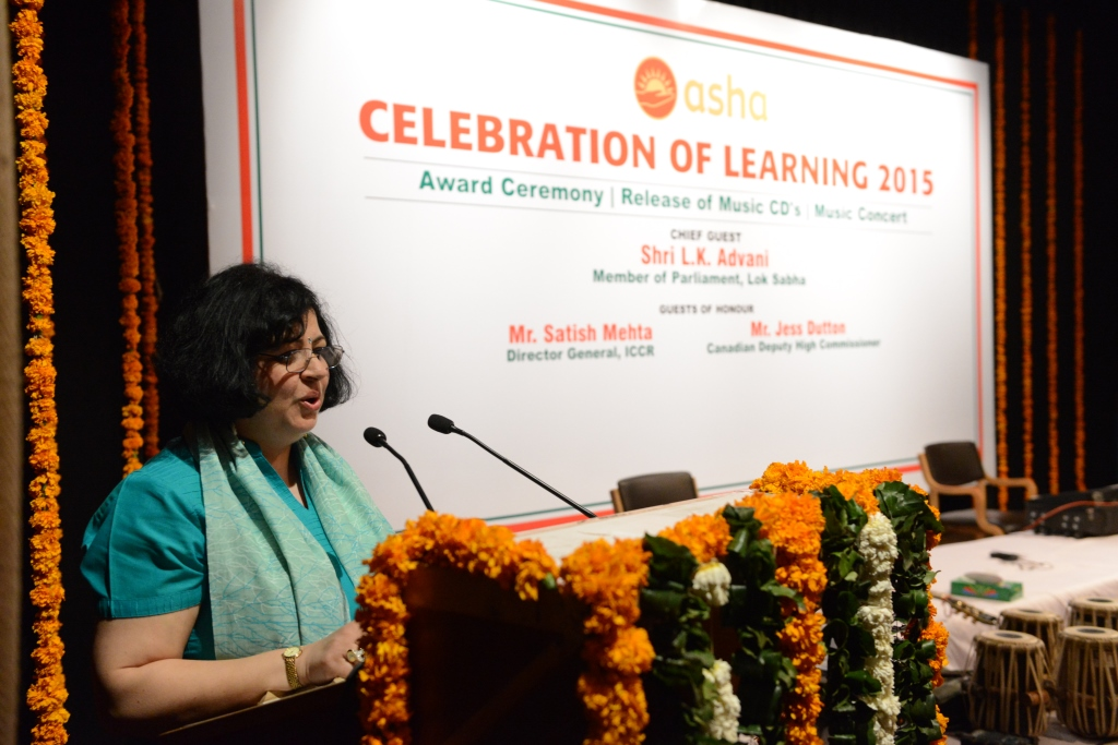 Dr Kiran addressing the audience at the event