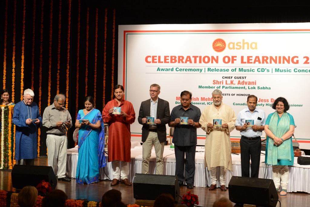 Dr Kiran and Shri Vinod with the Guests of Honour at the Music Album release