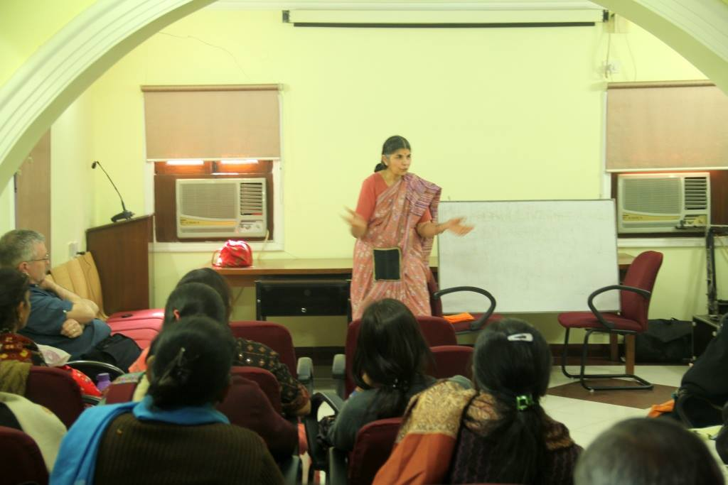 Dr Asha conducting the workshop at Asha HQ