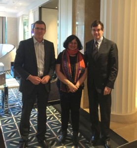 Dr Kiran was invited to meet Member of Parliament and Parliamentary Secretary for Indigenous Affairs to Prime Minister, Alan Tudge-L and Ross Fitzgerald-R board member of Australian Friends of