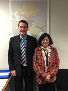 Dr Kiran with Bryce Hutchesson