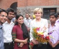 Australian Minister for Foreign Affairs, Ms Julie Bishop meets Asha students