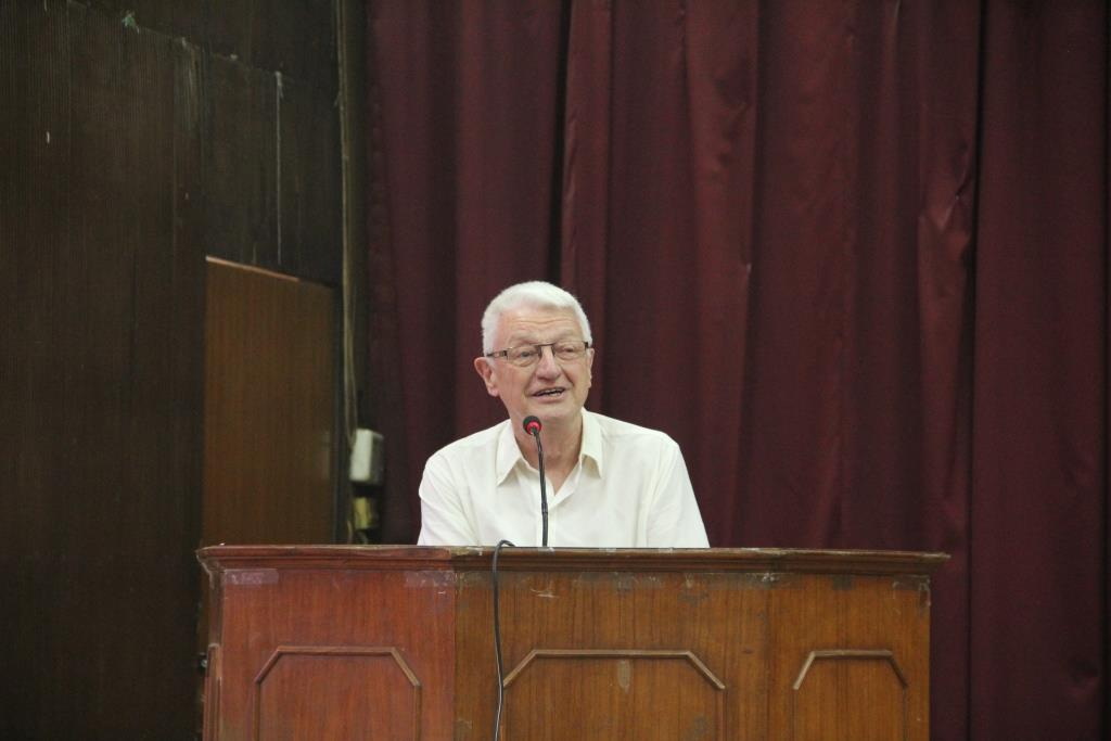 Mr Phil, while addressing the students