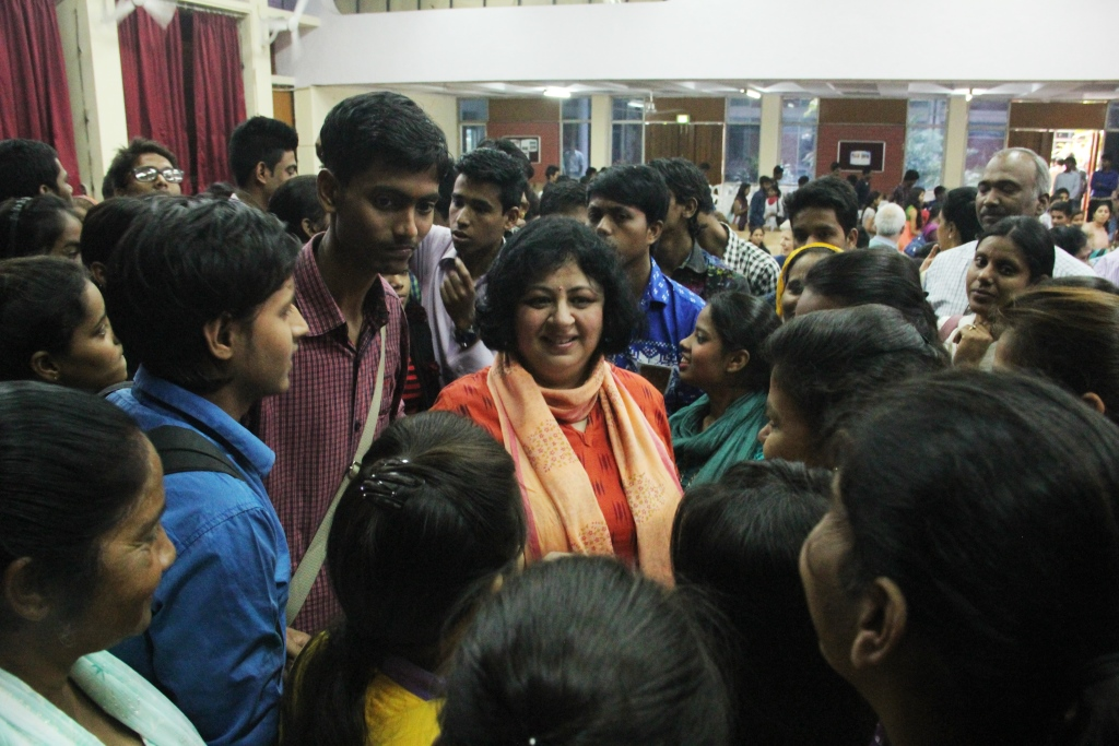 Dr Kiran, meeting the students from Asha Communities