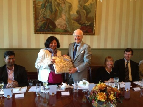 Governor of Victoria hosts lunch for Dr Kiran