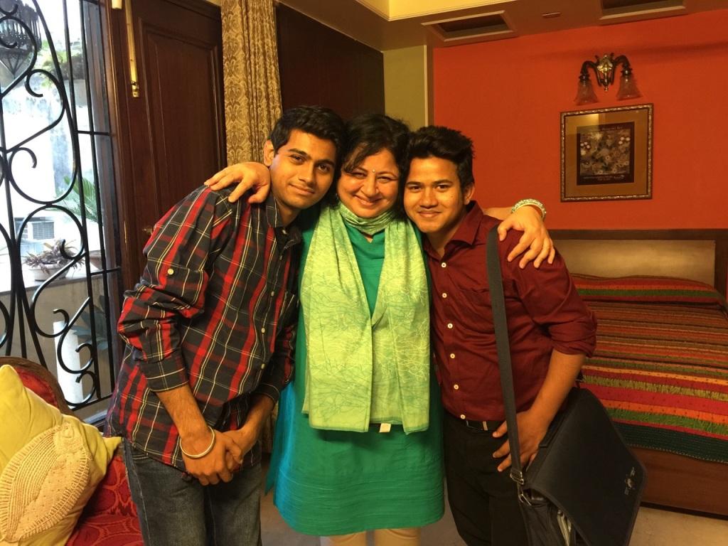 Dr Kiran and her mentees, Rinku and Akhlaq