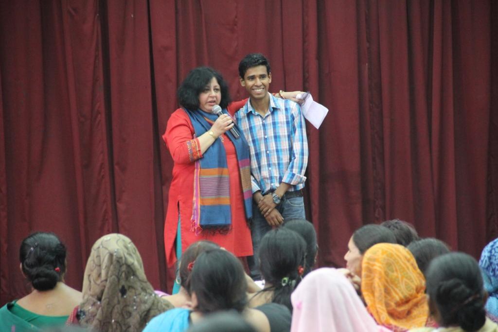 Dr Kiran with Jubair