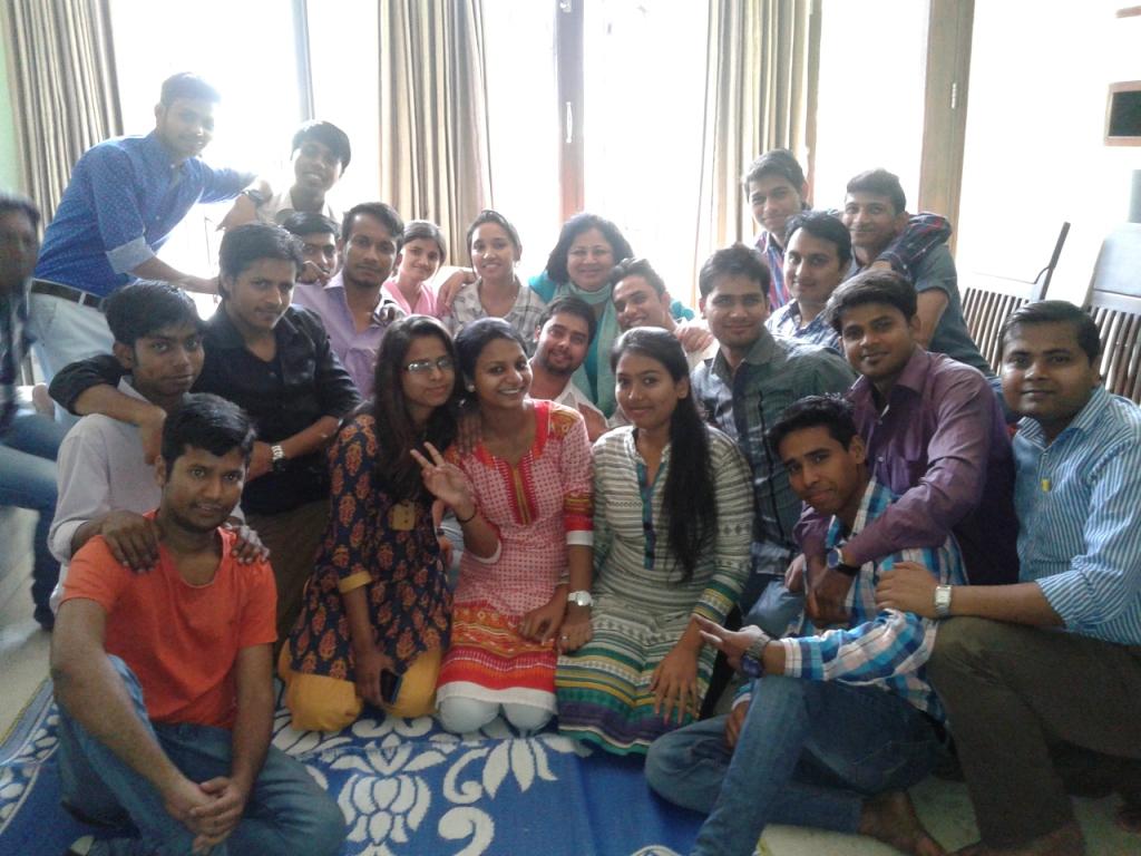 Dr Kiran with Students Ambassadors