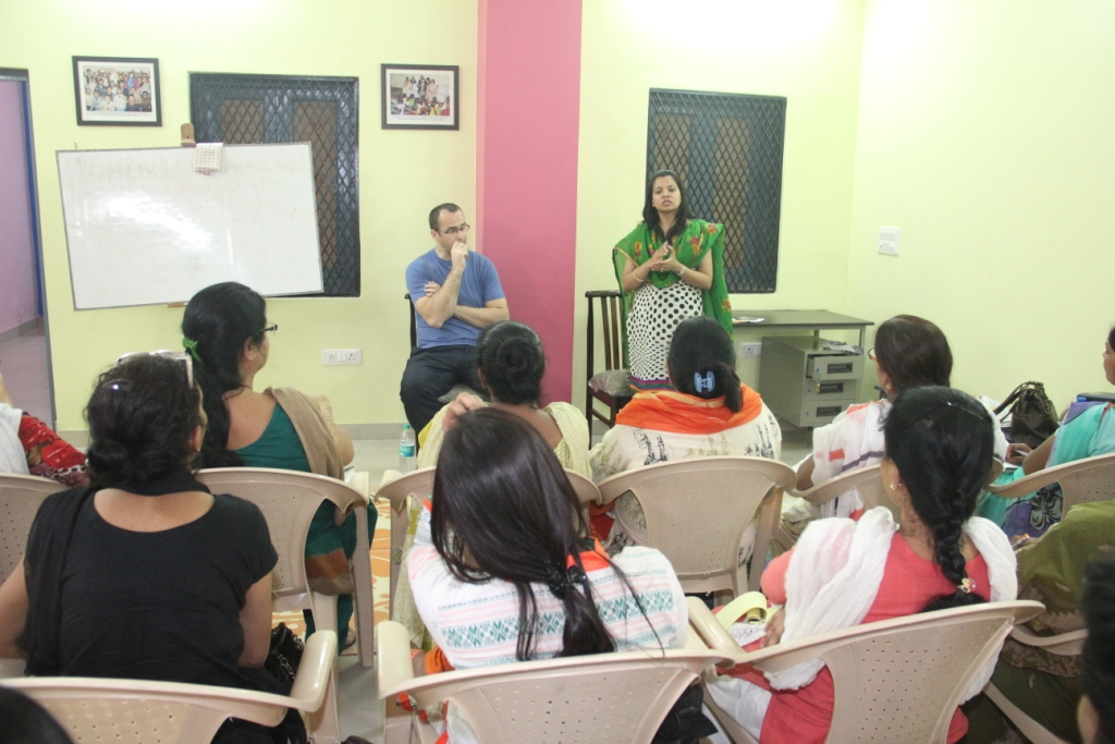 Will and Shweta conducting the workshop