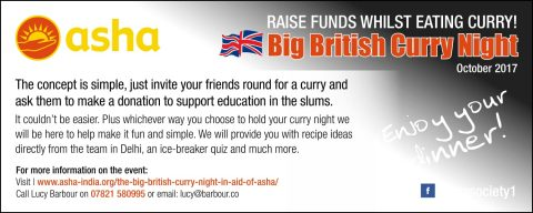 The Big British Curry Night in Aid of Asha