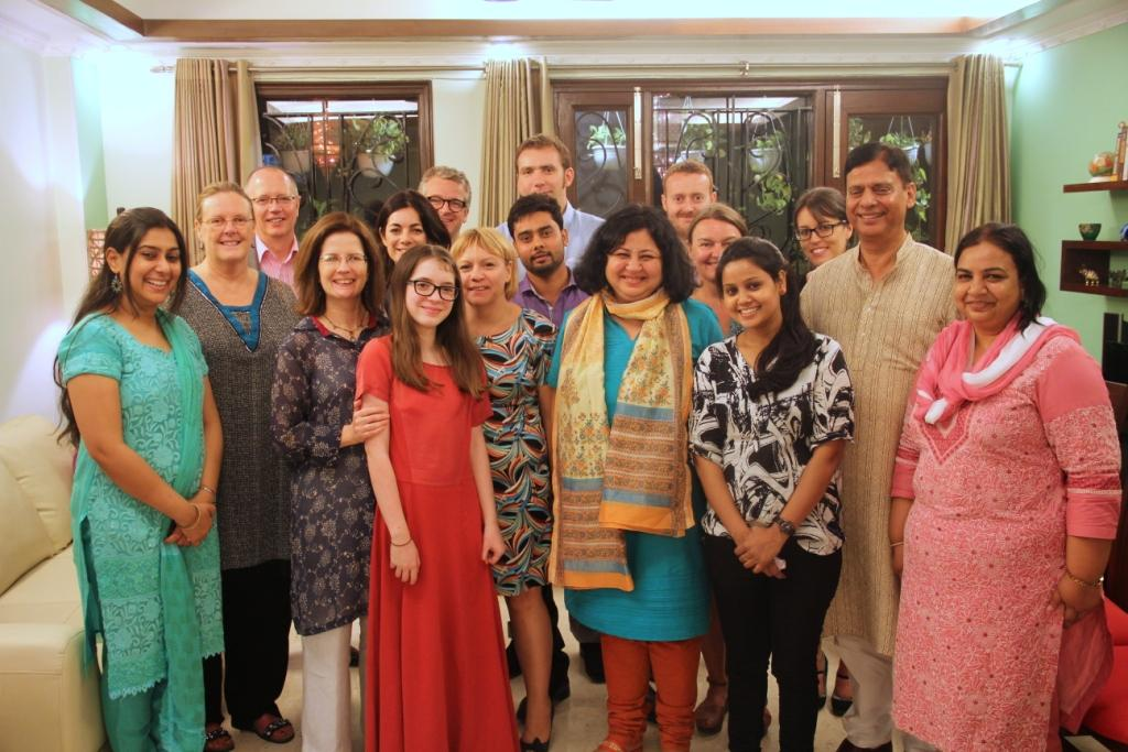 Asha team, friends and family with Jill