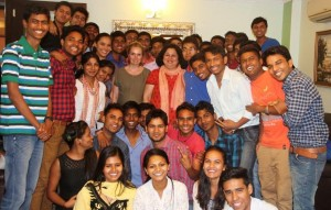 Dr Kiran congratulates Internship Students