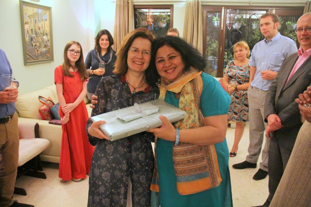 Dr Kiran with Jill Sinclair