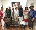 Mr L K Advani congratulates Asha High School toppers