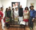 Mr L K Advani congratulates Asha High School toppers